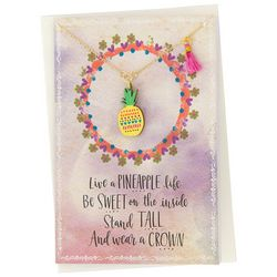 Natural Life Live A Pineapple Life Necklace Greeting Card