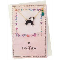 Natural Life I Ruff You Necklace Greeting Card