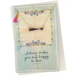 Natural Life Makes Your Soul Happy Necklace Greeting Card