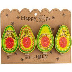 Natural Life 4-pc. Avocado Happy Clip Set