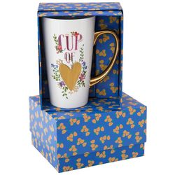 Natural Life Cup Of Love Gold Tone Handle Mug