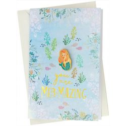 Natural Life Mermaid Enamel Pin Card