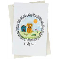 Natural Life Dog Enamel Pin Card