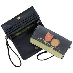 Natural Life Be Brave Have Courage Fold Over Wrislet Wallet