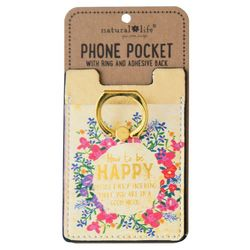 Natural Life How To Be Happy Phone Pocket & Ring