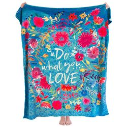 Natural Life Do What You Love Cozy Blanket