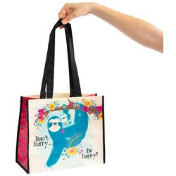 Natural Life Large Don't Hurry Be Happy Gift Bag