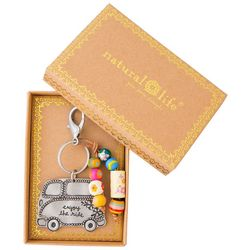 Natural Life Boxed Enjoy The Ride Keychain