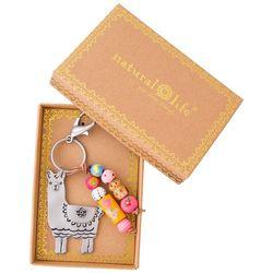 Natural Life Boxed Llama Keychain