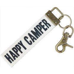 Natural Life Happy Camper Canvas Keychain