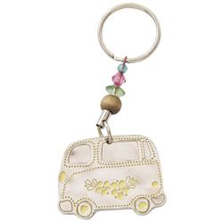 Natural Life Let's Just Go Van Keychain