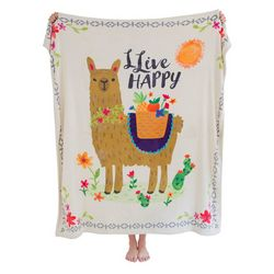 Natural Life Llive Happy Llama Cozy Blanket