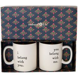 Natural Life 2-pc. I Belong With You Mug Set