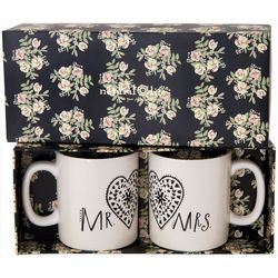 Natural Life 2-pc. Mr. & Mrs. Heart Mug Set