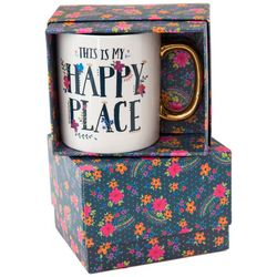 Natural Life This Is My Happy Place Boxed Mug