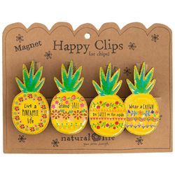 Natural Life 4-pc. Pineapple Magnet Happy Clip Set