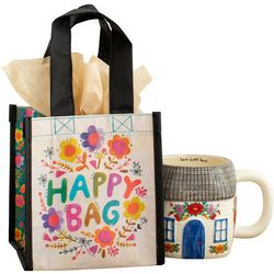 Natural Life Happy Bag Floral Wreath Small Gift Bag