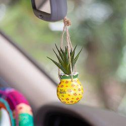 Natural Life Faux Succulent Pineapple Life Cermaic Pot