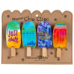 Natural Life 4-pc. Popsicle Magnetic Chip Clip Set