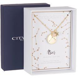 City x City 7.5 Goldtone Aries Pendant