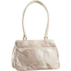 Stone Mountain Triple Zipper Patchwork Tote Handbag
