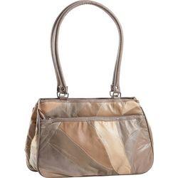 Stone Mountain Triple Zipper Patchwork Tote Handbag