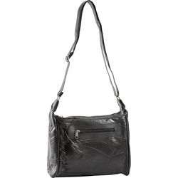 Stone Mountain Triple Zipper Patchwork Crossbody Handbag