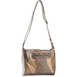 Stone Mountain Triple Zipper Patchwork Crossbody Handbag