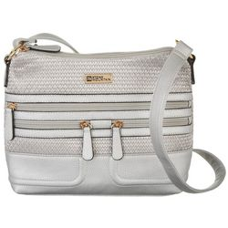 Stone Mountain Metallic Straw Hobo Handbag