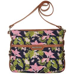Stone Mountain Tropical Garden Hobo Handbag