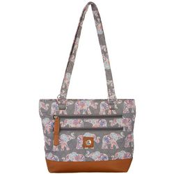 Stone Mountain Elephant Quilted Donna Tote Handbag