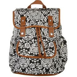 Stone Mountain Floral Print Drawstring Backpack