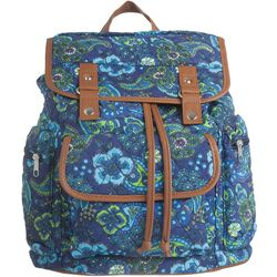 Stone Mountain Paisley Print Drawstring Backpack