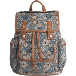 Stone Mountain Paisley Drawstring Backpack