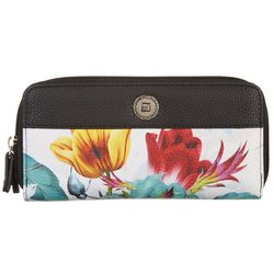 Stone Mountain Ludlow Floral Print Double Zip Wallet