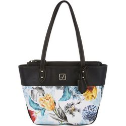Stone Mountain Floral Shopper Tote Handbag