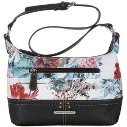 Stone Mountain Floral Print Hobo Handbag