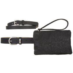 Stone Mountain Embossed Belt Bag & Belt Set