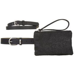 Stone Mountain Embossed Belt Bag & Belt Set