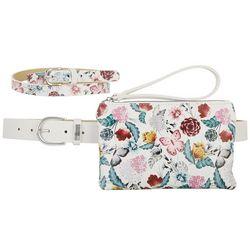 Stone Mountain 3-pc. White Floral Belt Bag Set