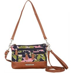 Stone Mountain Tropical Garden East West Crossbody Handbag