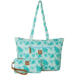 Stone Mountain Seafoam Turtle Tote Handbag