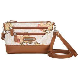 Stone Mountain Pebble East/West Floral Print Handbag