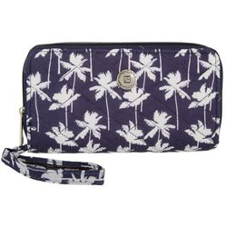 Stone Mountain Palm Tree Double Zip Around Wallet