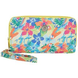 Stone Mountain Tropical Double Zip Around Wallet