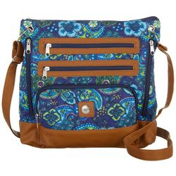 Stone Mountain Navy Blue Paisley Quilted Crossbody Handbag