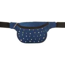 Americana Denim Blue Star Studded Fanny Pack