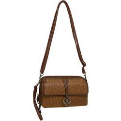 Bueno Front Flap & Heart Textured Multi-Function Handbag
