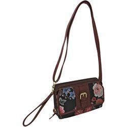 Bueno Floral Printed Front Flap Multi-Function Handbag