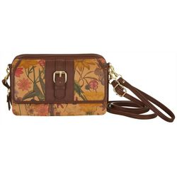 Bueno Floral Print Front Flap Multi-Function Handbag